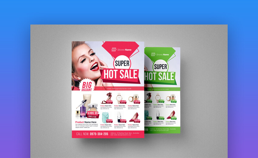 Product Sale Flyer Template Vibrant Design
