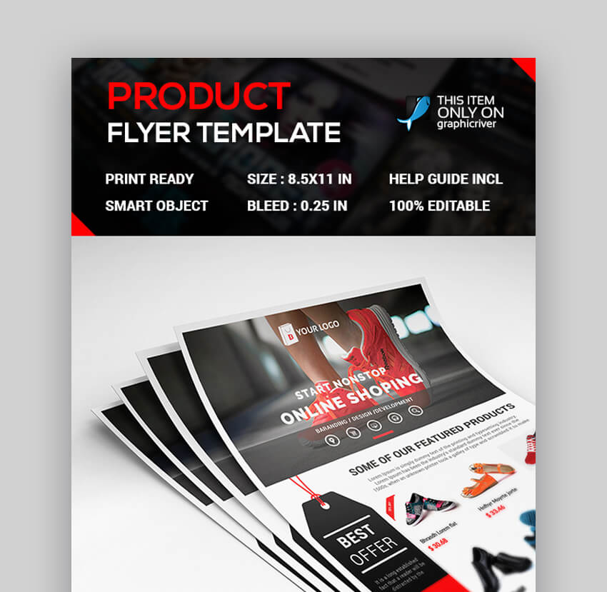 Product Flyer  Simple Product Flyer Design Template