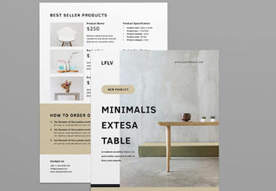 Image of product flyer templates preview