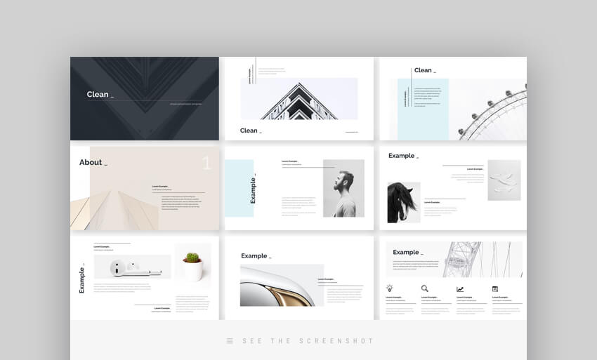 Clean Minimal Sophisticated PowerPoint Template