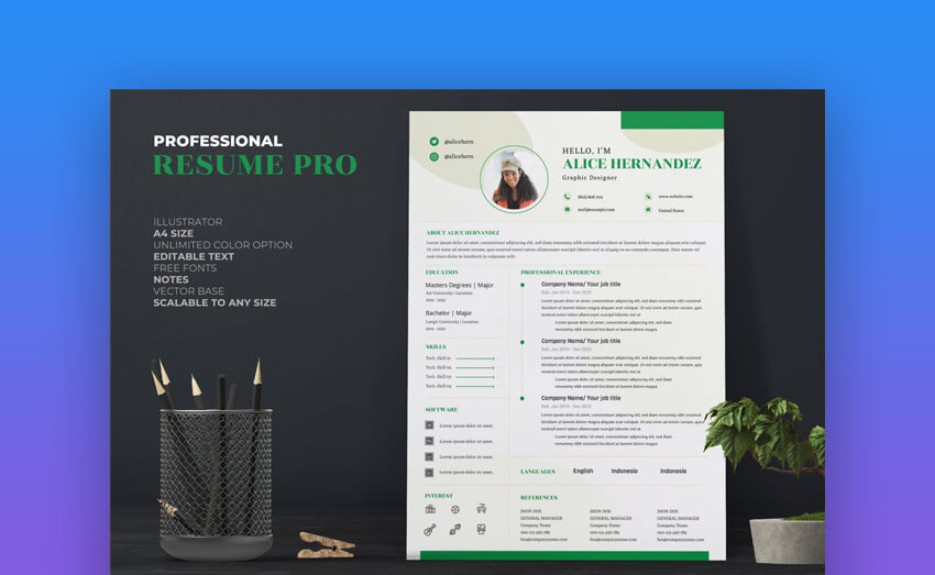 Female Resume CV Pro