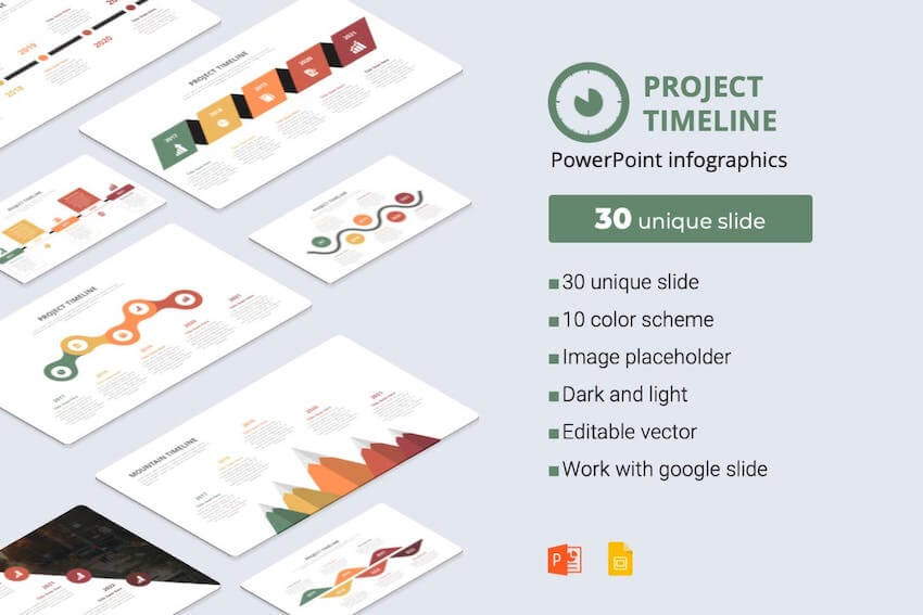 Project Timeline PowerPoint Infographic Template