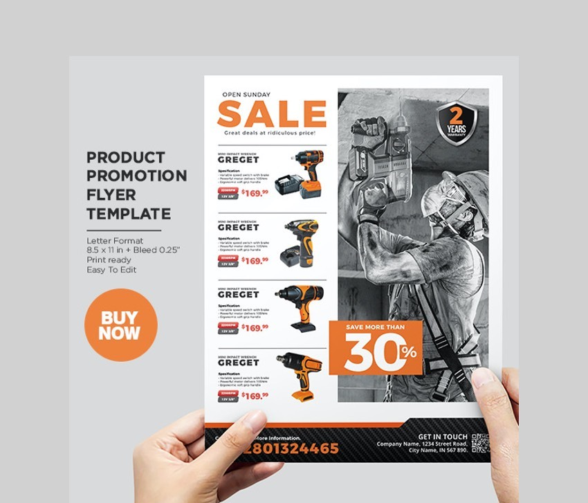 Heavy Duty Product Flyer - Cool Flyer Template