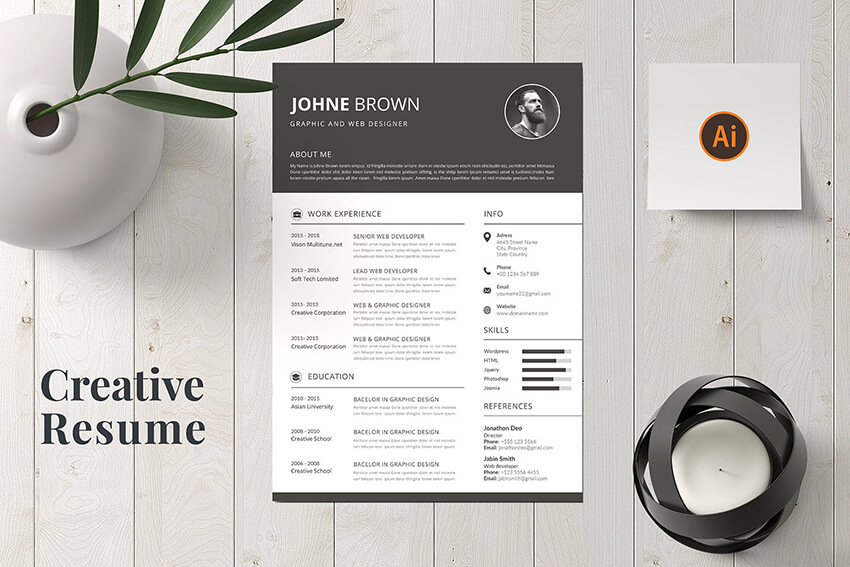 20 Creative Resume Cv Design Tips With Template Examples For 2020