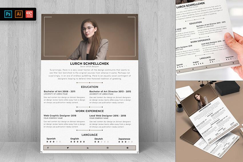 Resume CV Template 34