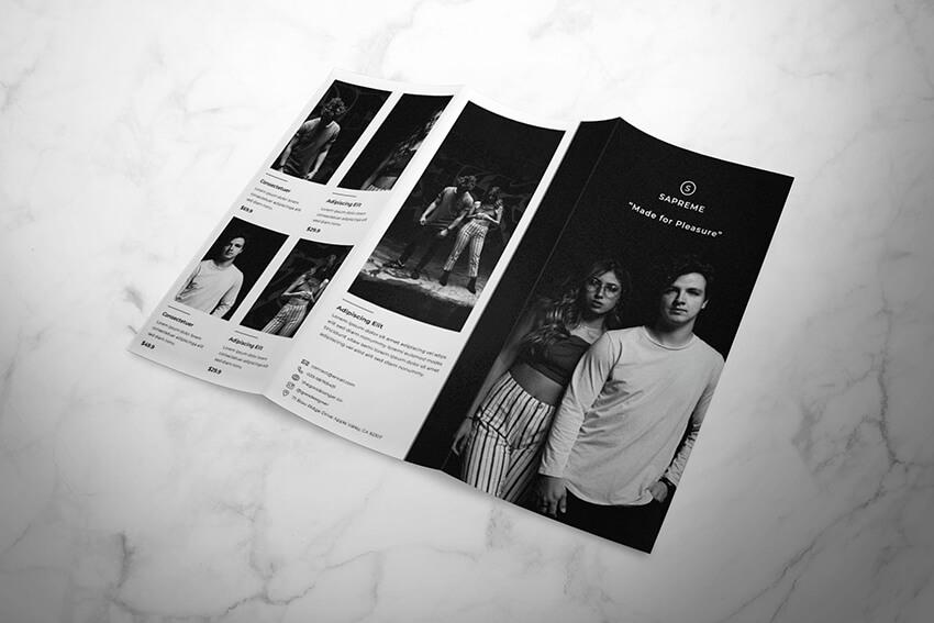 Fashion Trifold Brochure Template