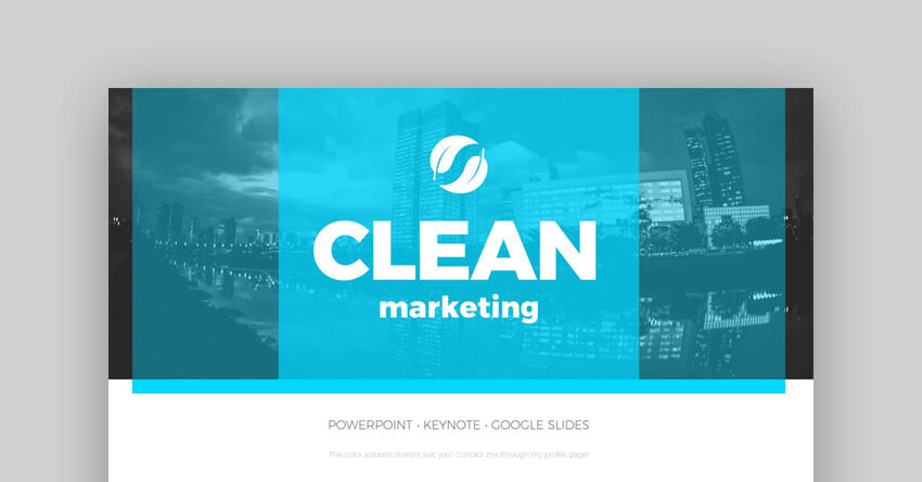 Clean Marketing PowerPoint Presentation Template