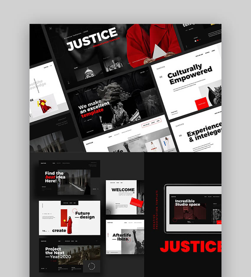 Justice Creative Marketing PowerPoint Template