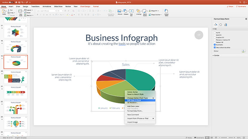 How To Make Great Ppt Charts Graphs In Microsoft Powerpoint Red paint and flags indicate electric lines. ppt charts graphs in microsoft powerpoint