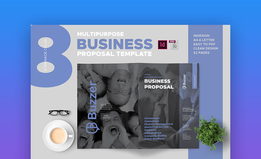 Buzzer Clean Business Proposal Template
