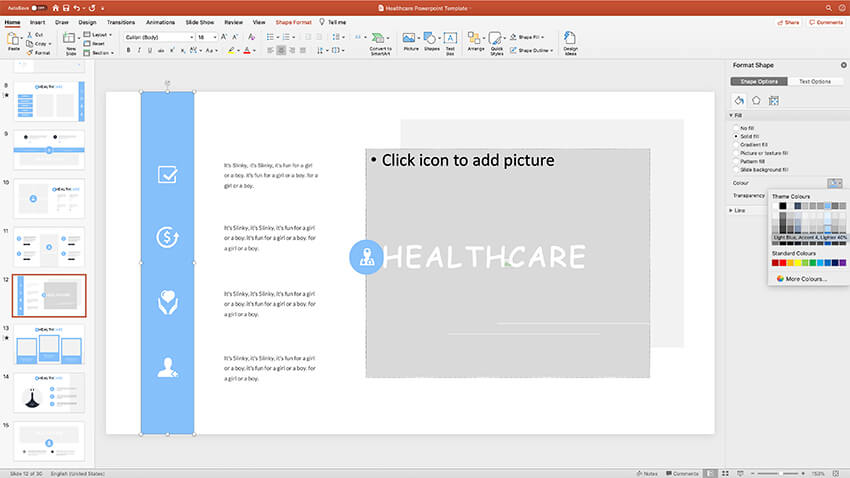 Customizing colors in this PPT template