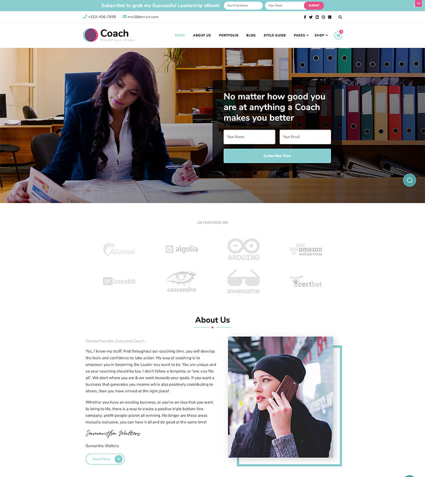 Blossom Coach - Coach and Speaker WordPress Theme