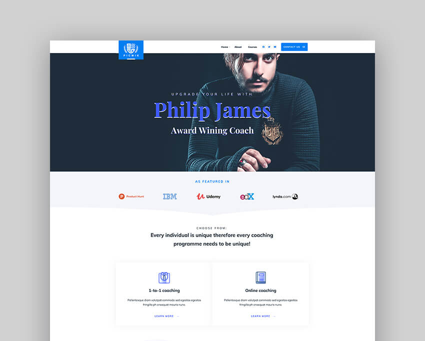 Picwik - Tema de WordPress para speaker y coaching