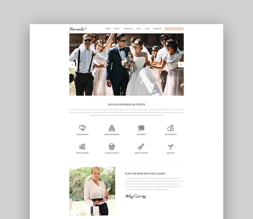 Moments - Wedding  Event Planner Theme For WordPress