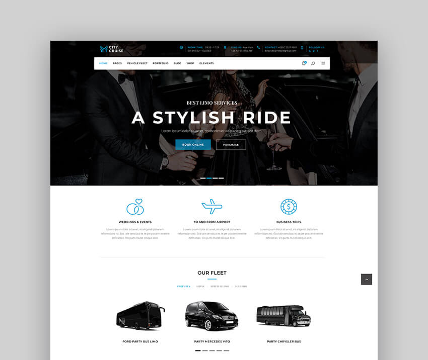 City Cruise - Limousine and Car Rental Taxi Theme