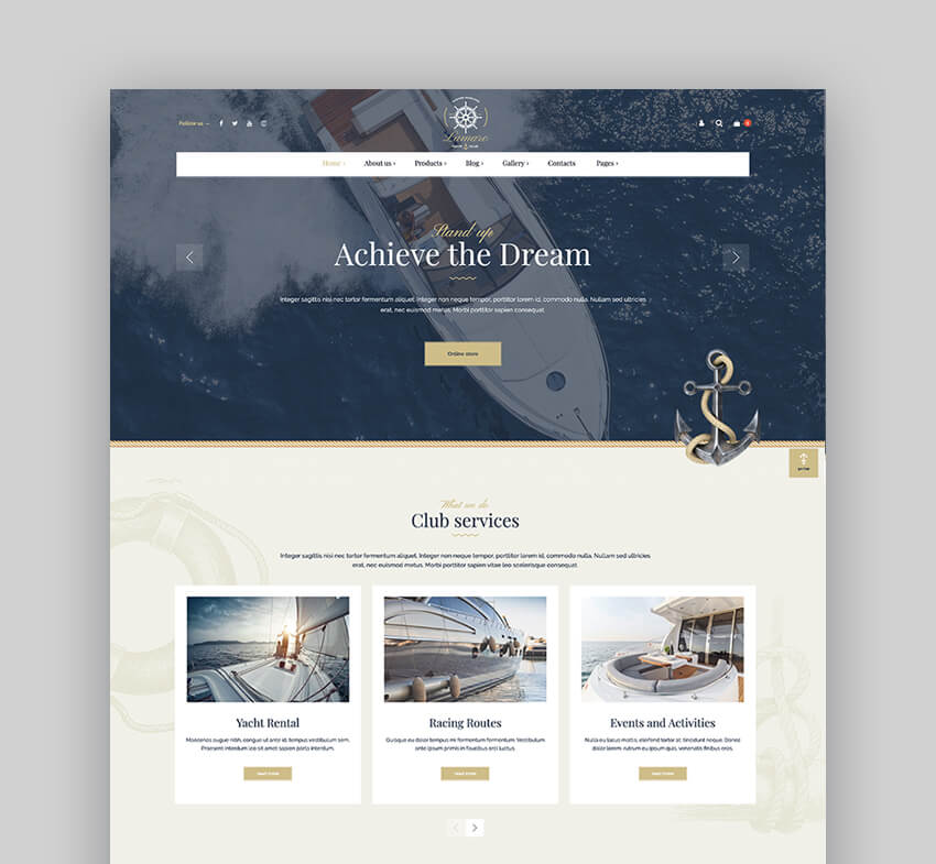 Lamaro - Water Taxi Rental WordPress Theme
