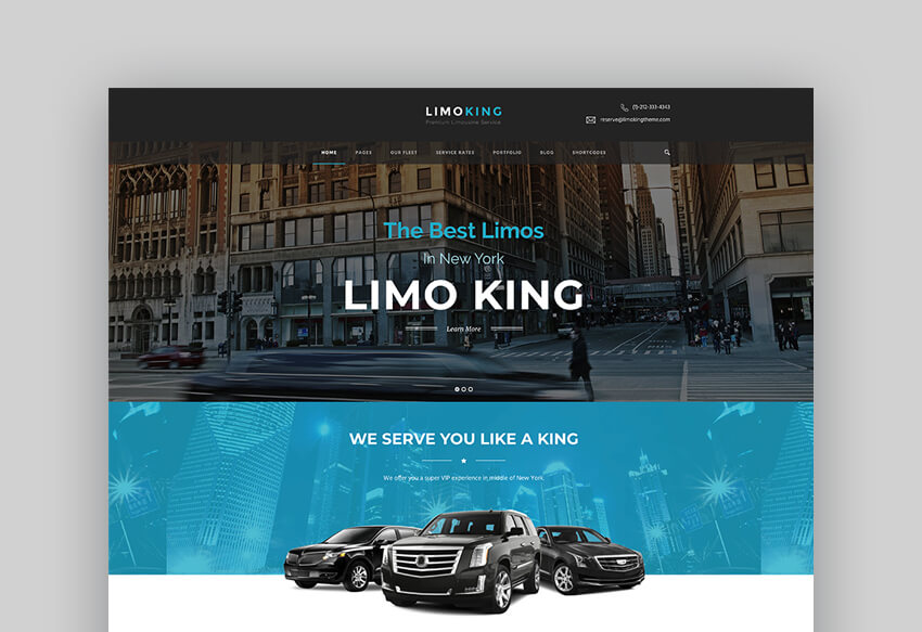 Limo King - Limo And Taxi Theme For WordPress
