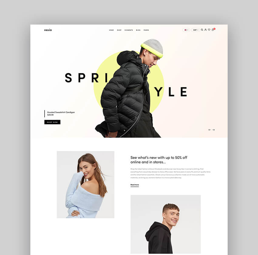 Nexio - Fashion WooCommerce Theme