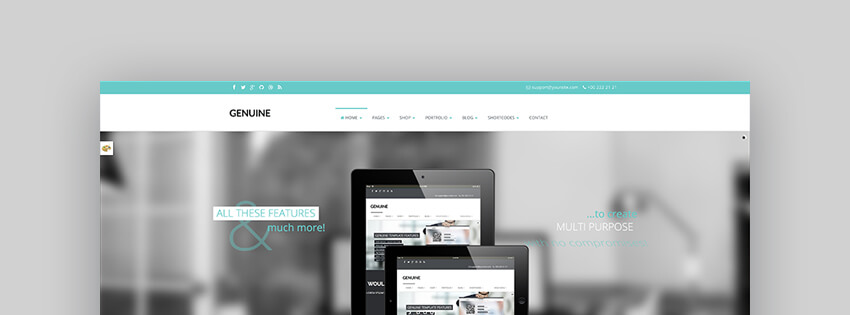 Genuine - Creative Responsive WordPress Theme For Forum Websites