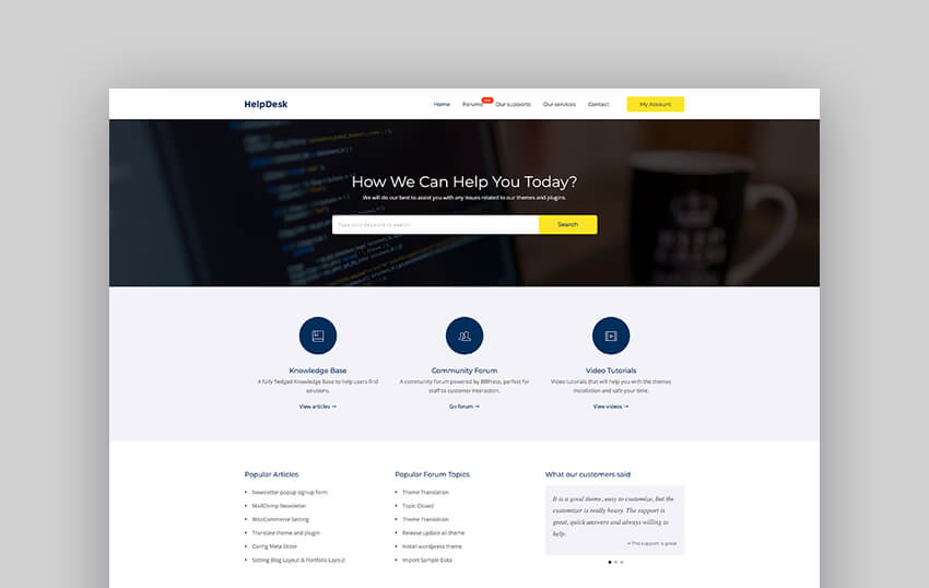 HelpDesk - WordPress Support Center And Forum Theme