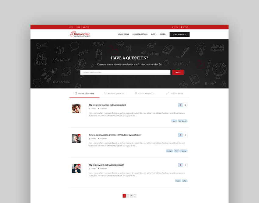 InfoCenter - Knowledge Base and QA WordPress Theme