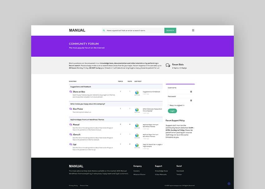 Manual - Multi-Purpose Online Documentation Knowledge Base  Creative WordPress Theme