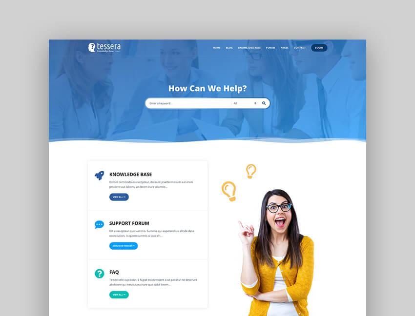 Tessera - Knowledge Base  Support Forum WordPress Theme