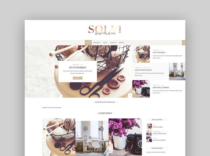 Slvi - An Elegant Lifestyle WordPress Blog Theme