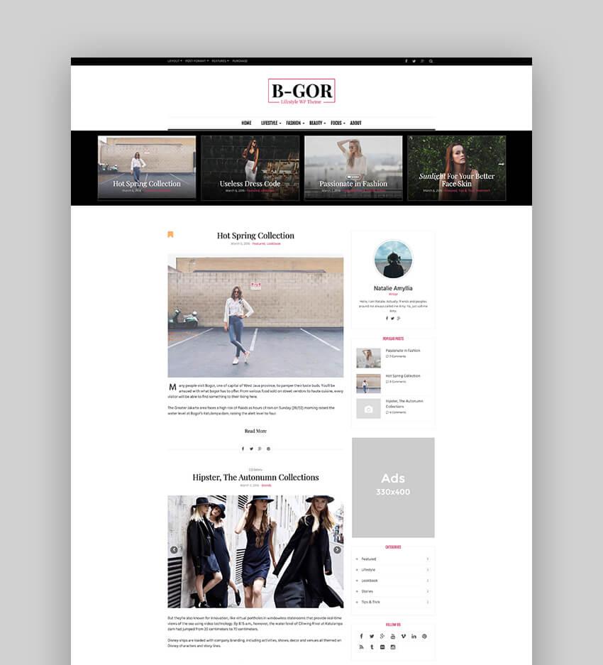 Bgor - A Lifestyle WordPress Theme