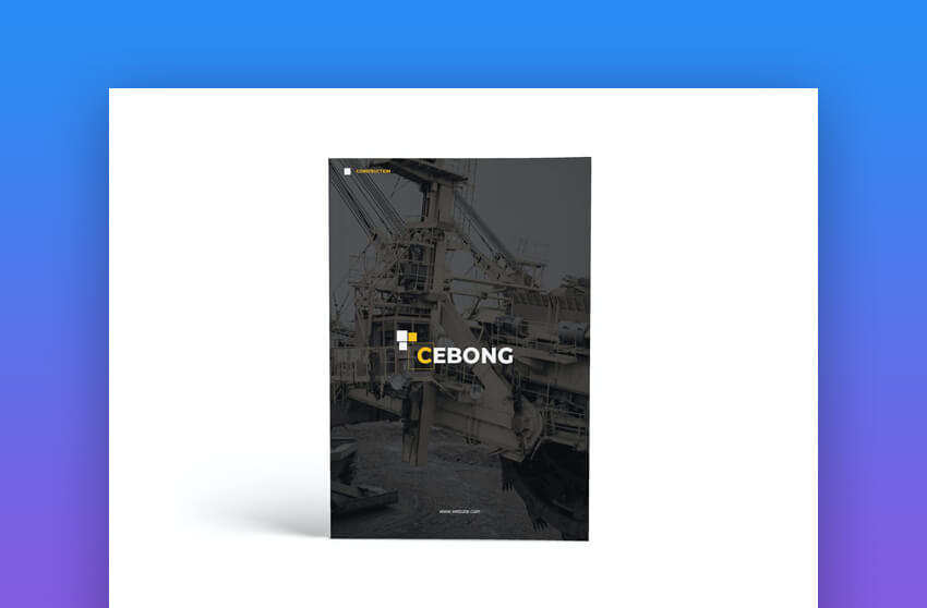 Construction A4 Brochure Template
