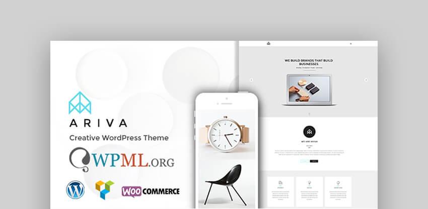 Ariva - Tema WordPress estilo onepage para estudios de danza