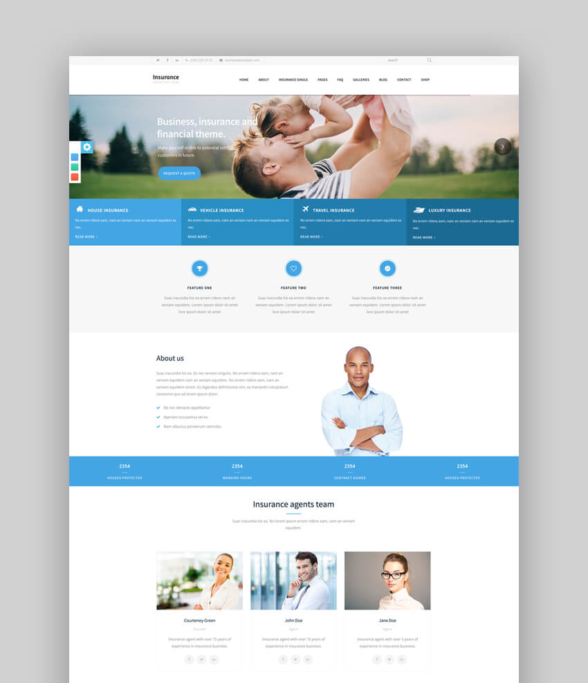 Insurance Agency - Business WP Theme