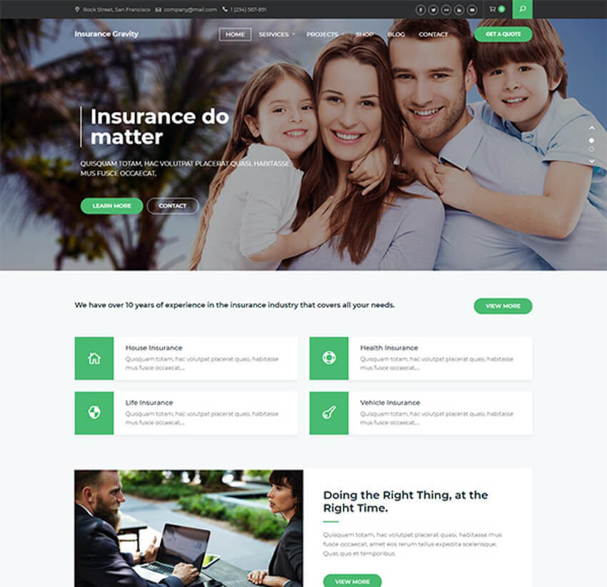 Insurance Gravity - WordPress theme