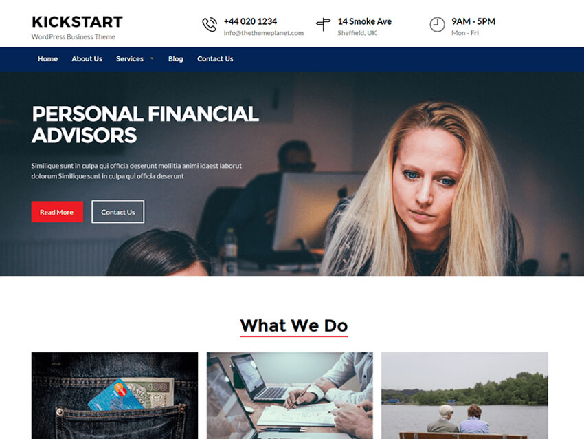 Kickstart business - WordPress theme