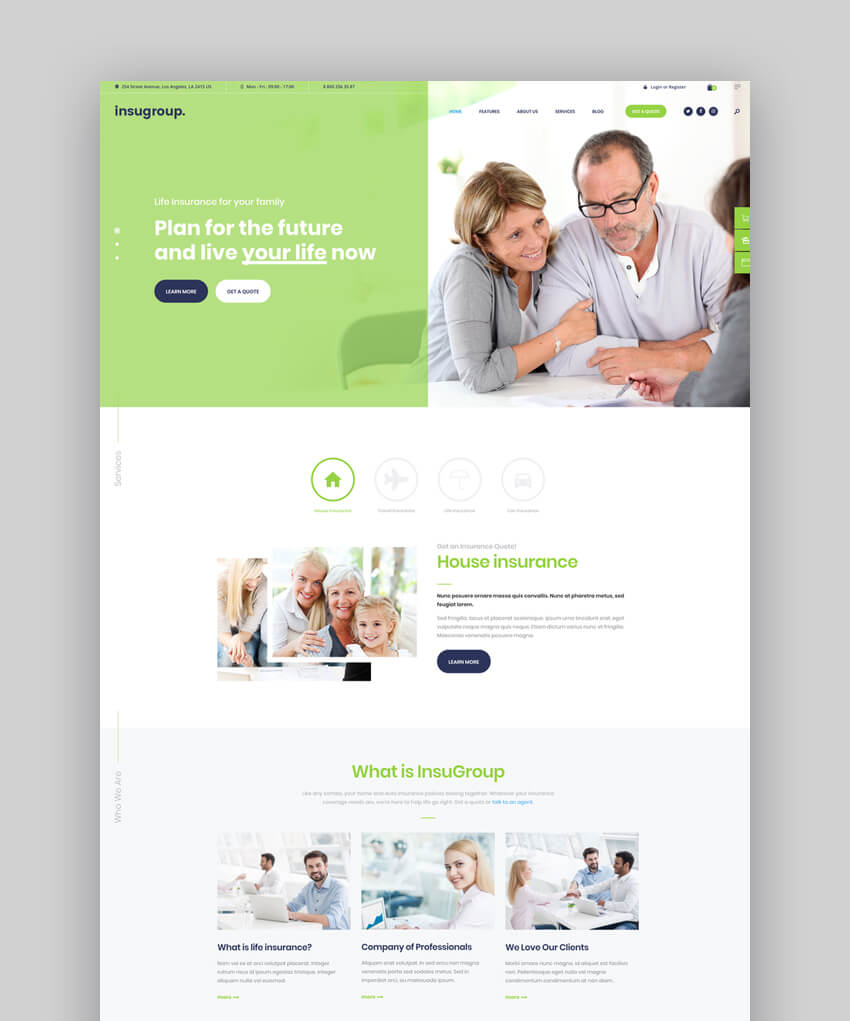 Insugroup  A Clean Insurance  Finance WordPress Theme