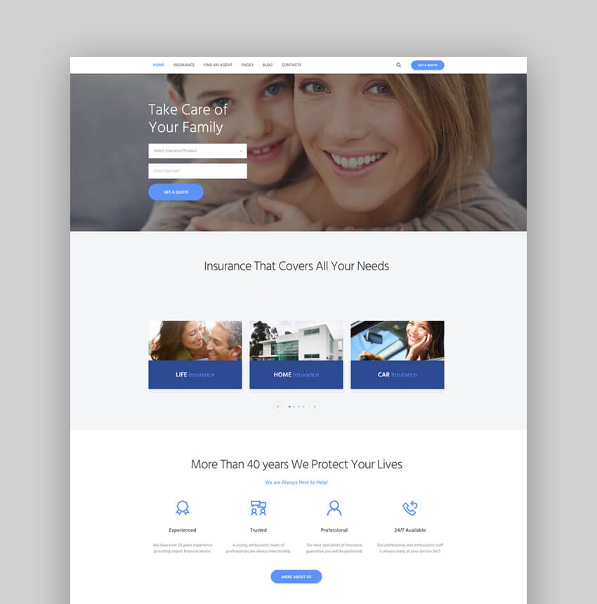 Insurance Agency Finance  Business WordPress Theme