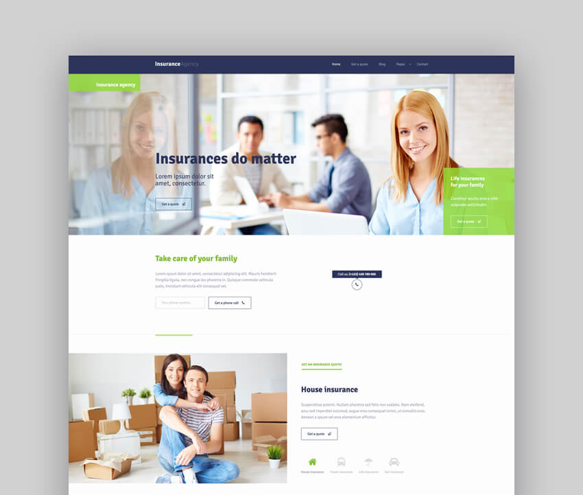 Insurance Agency Loan Theme
