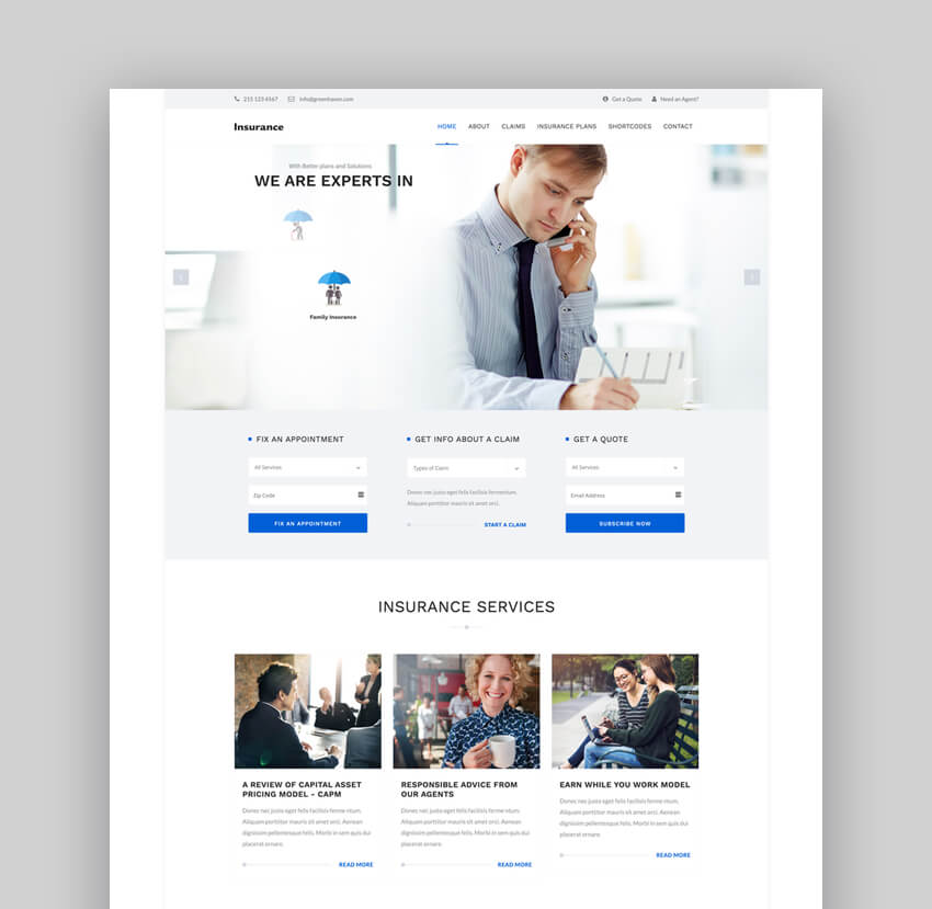 Insurance - WordPress Theme for Insurance Agency