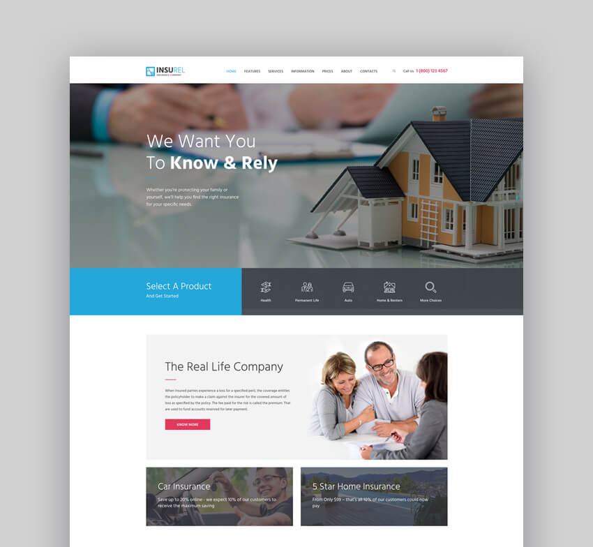 InsuRel  Insurance  Finance WordPress Theme