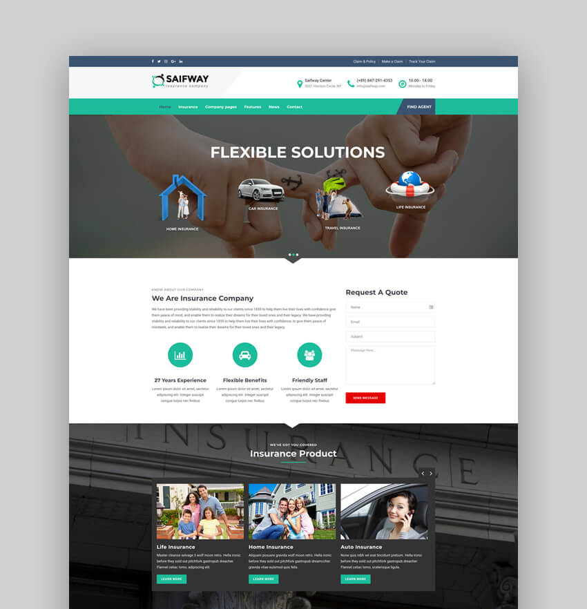 Saifway - Insurance Agency WordPress Theme