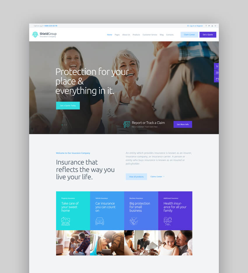 ShieldGroup  An Insurance  Finance WordPress Theme