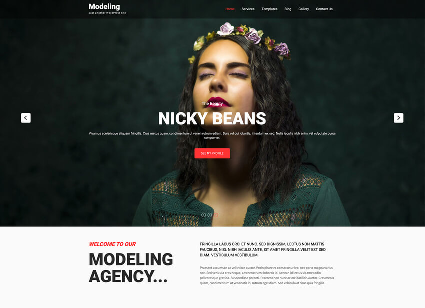 Modeling Lite - Free Casting WordPress Theme