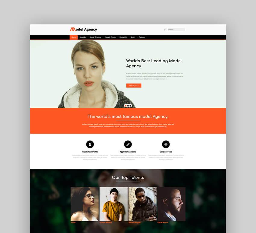 Models - Fashion Agency WordPress Theme