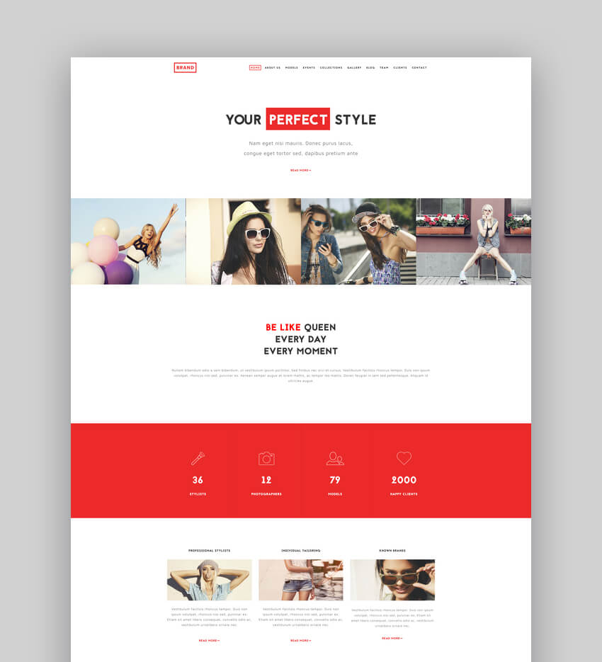 The Fashion - Model Agency One Page Beauty Theme