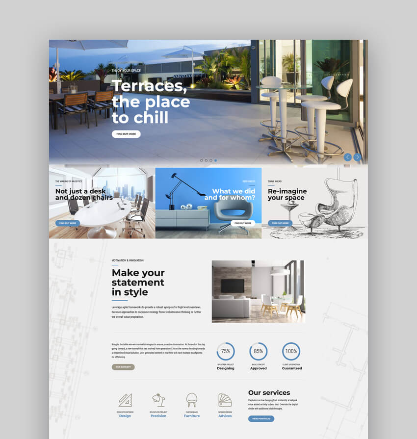 Addison - Architecture  Interior Design WordPress Theme