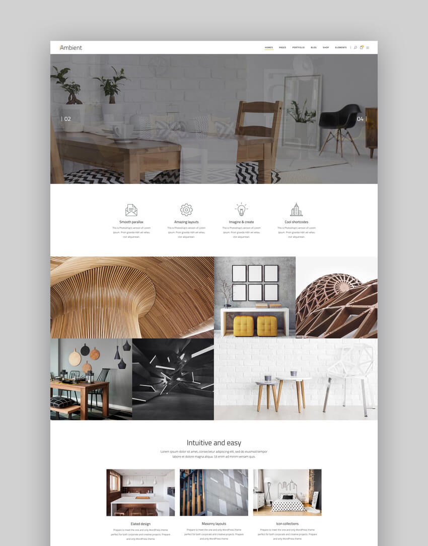 Ambient - Modern Interior Design and Decor Theme