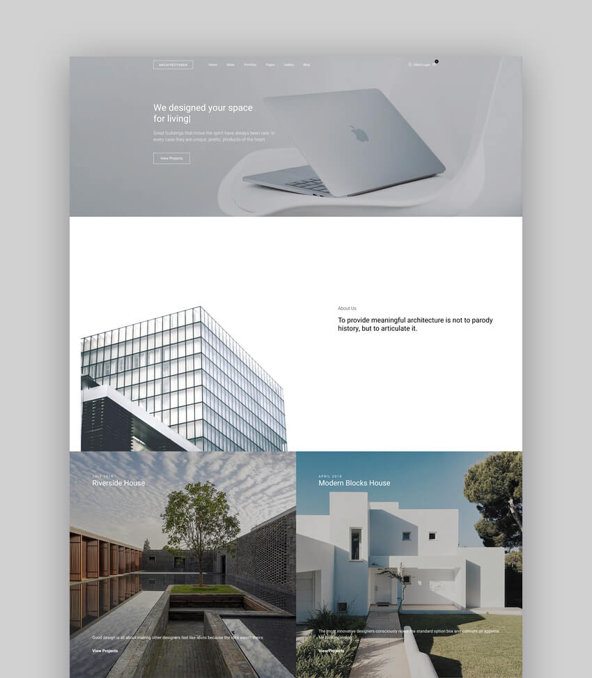Architecturer WordPress Theme for Interior Designer