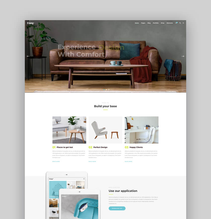 Cozy - Interior Design Theme for WordPress