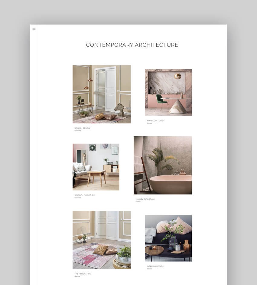 Dessau - Contemporary WordPress Theme for Architects and Interior Designers