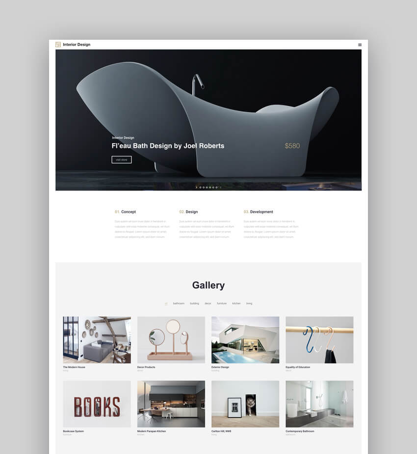 Interior Design - Architecture And Interior Decor WordPress Theme